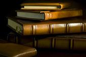 Vintage books (selective focus) — Stock Photo