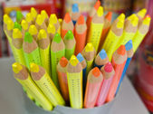 Colour pencils close up (in soft focus) — Stock Photo