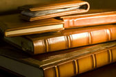 Vintage books (selective focus) — Stockfoto