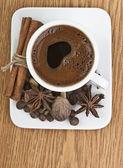 Heart Shape Coffee Foam — Foto Stock