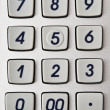 Stock Photo: Calculator button closeup