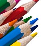 彩色铅笔在白色隔离 — 图库照片