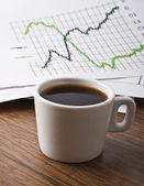 Tazza di caffè sul tuo desktop — Foto Stock