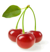 Sweet cherry isolated on white — Stock Photo