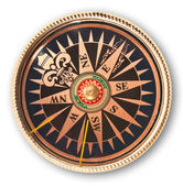 Close up view oft the old compass — Stock Photo