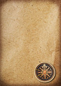Compass on old paper — Stock Photo
