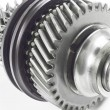 Real stainless steel gears isolated over white background — Stock Photo #38264743