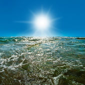 Onde sulla superficie dell'oceano — Foto Stock