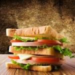 Small toast sandwich — Stock Photo