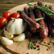 Stock Photo: Smoked sausage