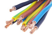 Three-phase electric cable — Stock Photo