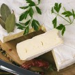 Camembert on wooden board — Stock Photo #41347813