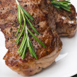 Stock Photo: Beef steak with rosemary