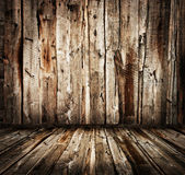 Wooden planks wall and floor — Zdjęcie stockowe