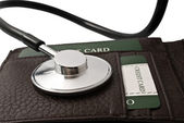 Stethoscope and wallet — Stock Photo