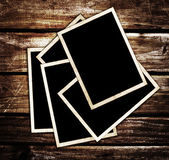 Old blank photo frames — Stockfoto