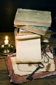 Old papers and books — Stock Photo