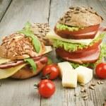 Homemade hamburgers — Stock Photo