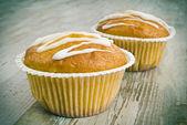 Två muffins — Stockfoto