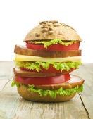 Hambúrguer caseiro — Fotografia Stock