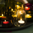 Romantic candles in glasses — Stock Photo #51212213