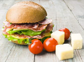 Homemade hamburger — Stock Photo