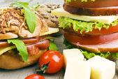Hambúrgueres caseiros — Foto Stock