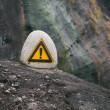 Caution! precipice! — Stock Photo