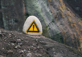 Caution! precipice! — Stockfoto