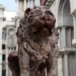 Stock Photo: Stone lion in PiazzSMarco