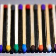 Stock Photo: Black and white Match sticks with colored heads