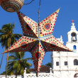 Holiday Star on background of a Church, GOA — Stock Photo