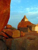 Malyavanta Raghunath Temple on top of rock in Hampi, Karnataka, — Stock Photo