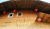 Wall of Tulou, traditional dwelling ethnic Hakka — Stock Photo