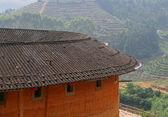 Roof of Tulou, traditional dwelling ethnic Hakka — Stock Photo