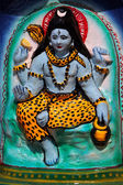 Shiva's image on the altar at the Hindu temple, Goa — Stock Photo