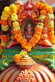 God Ganesha on the altar at Hindu temple, Goa — Stock Photo