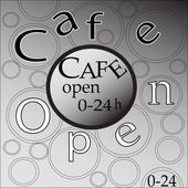 Cafe open — Stock Photo