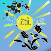 Spring sun — Stock Photo