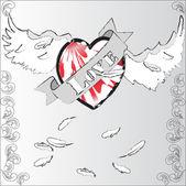 Flying heart — Stock Photo