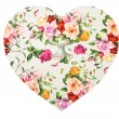 Heart with flowers — Foto Stock