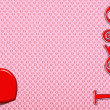 The red heart on a pink background, a Valentine's Day. — Stock Photo