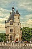 Marques Tower at the castle of Chenonceau in France — Stock Photo