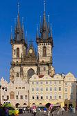 Prag. eski şehir meydanı — Stok fotoğraf