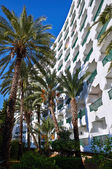 Hotel with palm trees in Tunisia — Stock fotografie