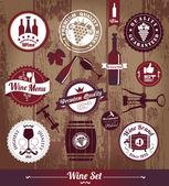 Wine set background. — Stock Vector