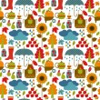 Stock Vector: Autumn seamless pattern.