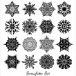 Snowflake set. — Stock Vector #36757641
