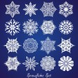 Snowflake set.  — Stock Vector
