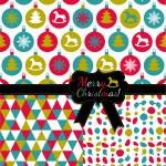 Balls christmas pattern. — Stock Vector #36757653